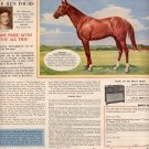1957 KENTUCKY CLUB TOBACCO ANNUAL DERBY DAY CONTEST WITH TED ATKINSON MAGAZINE AD (221)