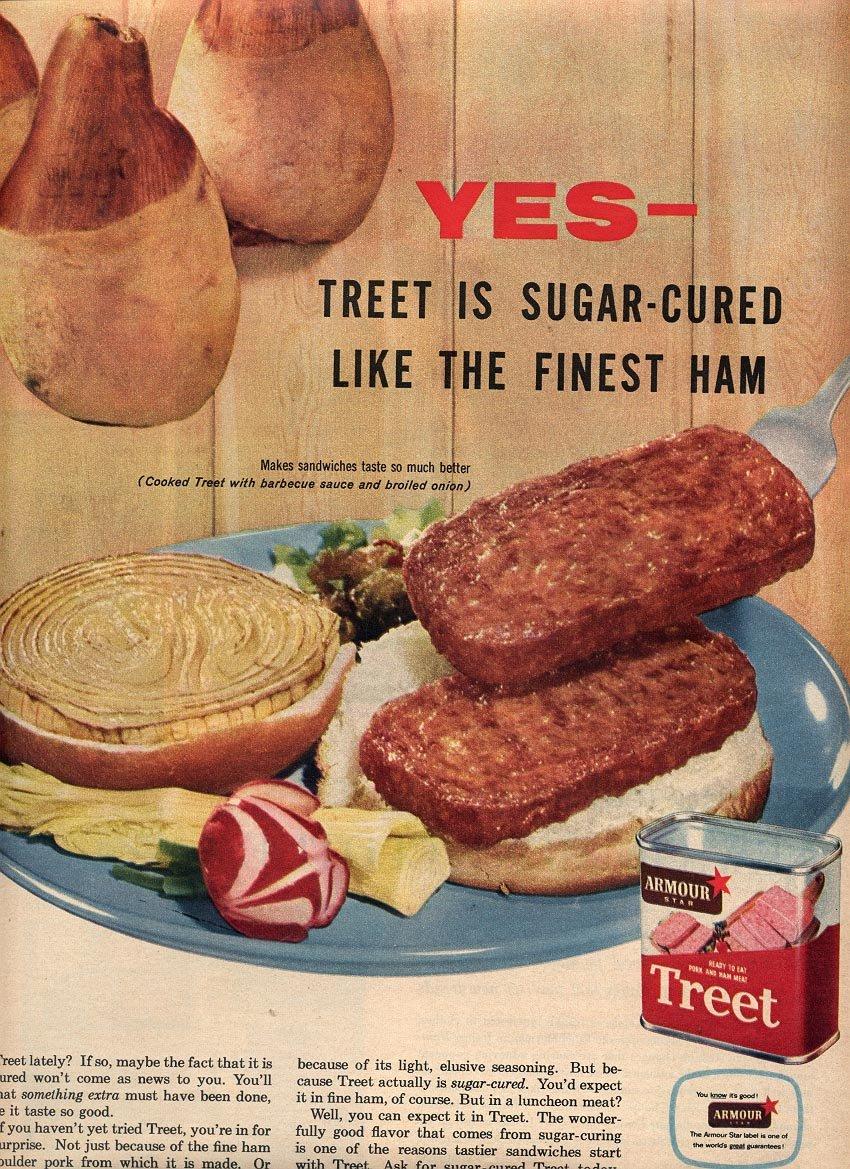 1957 AMOUR STAR TREET MAGAZINE AD (227)