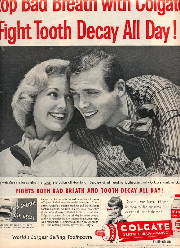 1959 COLGATE DENTAL CREAM MAGAZINE AD (237)