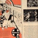 1957 NEW HI LEVEL EL CAPITAN ON THE SANTA FE RAILROAD TRAIN MAGAZINE AD (238)