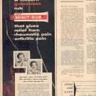 1957 MINIT-RUB PAIN RELIEVER MAGAZINE AD (242)
