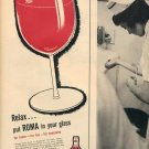 1957 ROMA RESERVE PORT WINE - FRESNO CALIFORNIA MAGAZINE AD (246)