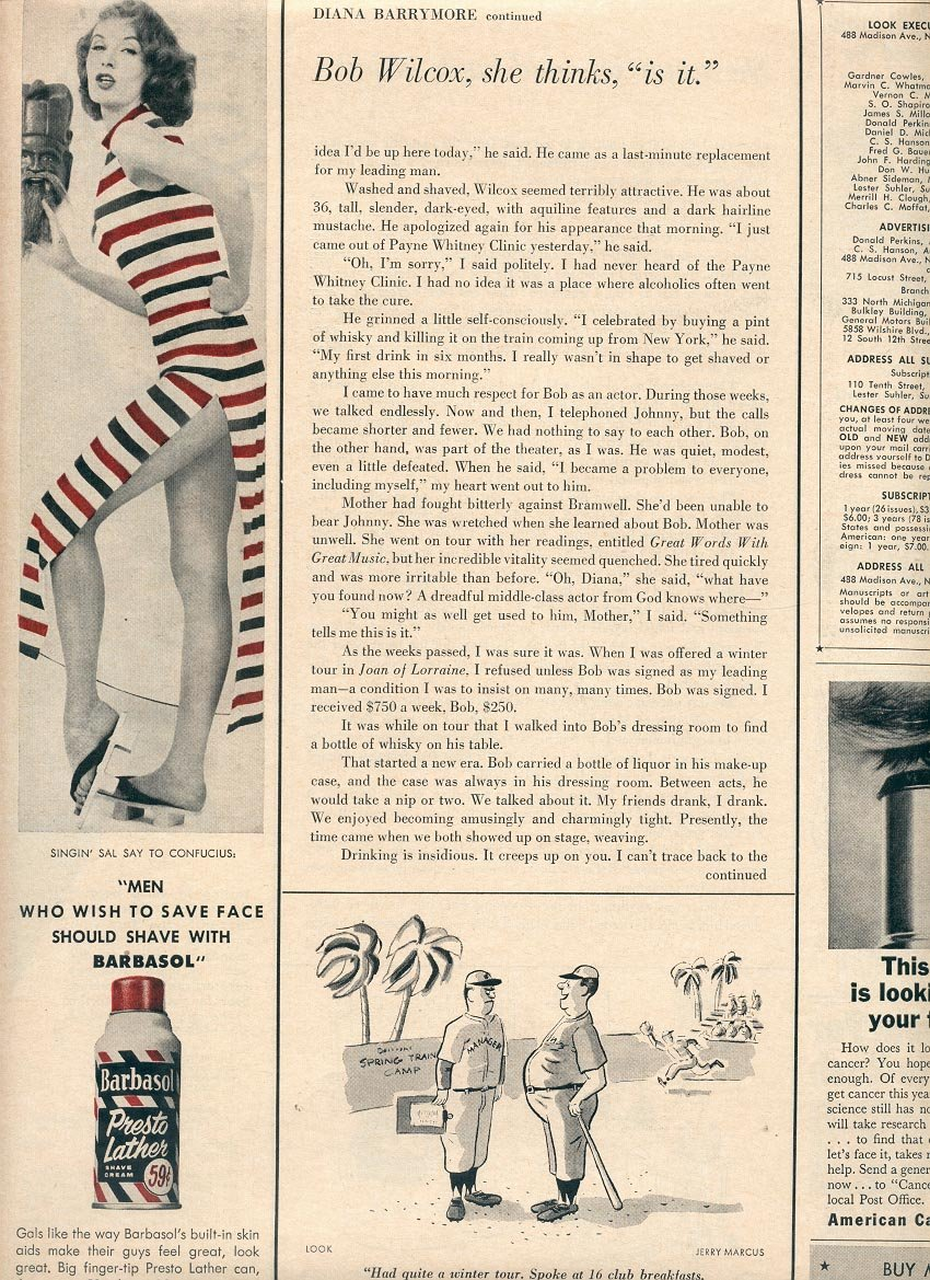 1957 BARBASOL SHAVE CREAM MAGAZINE AD (250)