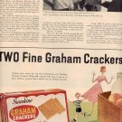 1958 SUNSHINE GRAHAM CRACKERS DOUBLE PAGE MAGAZINE AD (262)