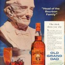 1958 OLD GRAND DAD KENTUCKY BOURBON WHISKEY MAGAZINE AD (269)