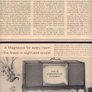 1959 MAGNAVOX DOUBLE PAGE MAGAZINE AD (275)