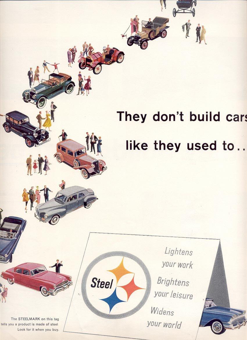 1959 UNITED STATES STEEL - (USS) 3 PAGE MAGAZINE AD (278)