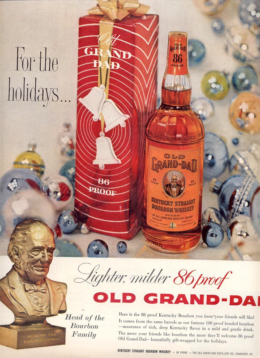 1959 OLD GRAND DAD KENTUCKY BOURBON WHISKEY MAGAZINE AD (279)