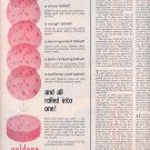 1959 COLDENE TABLETS FOR COLD SYMPTOMS MEDICINE MAGAZINE AD (285)