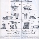 1959 INCO NICKEL MAKES CHRISTMAS BRIGHTER WITH STAINLESS STEEL MAGAZINE AD (295)