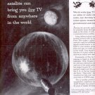 1959 DOUGLAS MISSILE & SPACE SYSTEMS TV SATELLITES MAGAZINE AD (296)