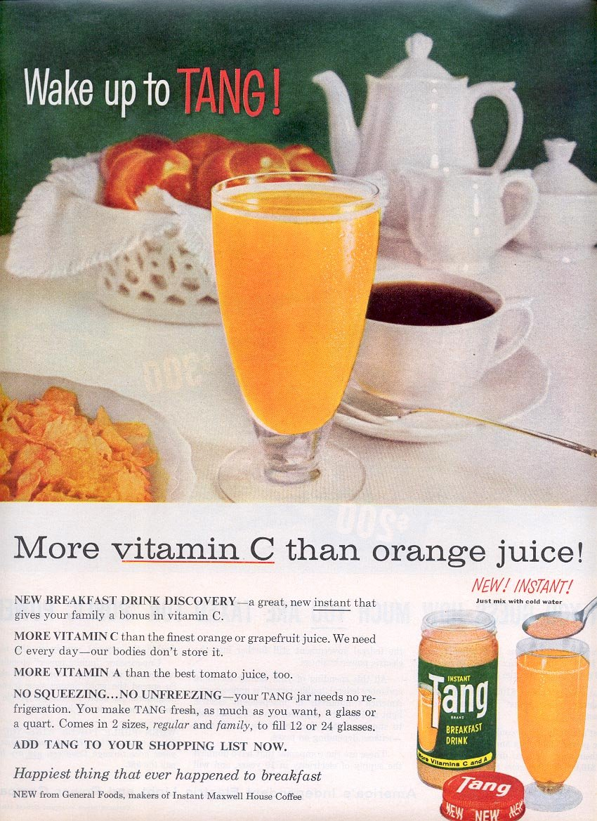 1959 TANG INSTANT BREAKFAST DRINK MAGAZINE AD (308)