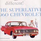 1959 THE SUPERLATIVE 1960 CHEVROLET MAGAZINE AD (309)