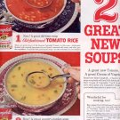 1959 CAMPBELL'S SOUP - TWO GREAT NEW SOUPS MAGAZINE AD (311)