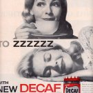 1959 NEW NESTLES DECAF INSTANT COFFEE MAGAZINE AD (314)