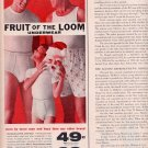 1959 FRUIT OF THE LOOM UNDERWEAR FOR MEN AND BOYS MAGAZINE AD (320)