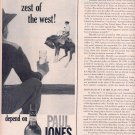 1959 PAUL JONES AMERICAN BLENDED WHISKEY MAGAZINE AD (321)