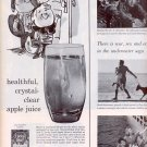 1959 LUCKY LEAF APPLE JUICE MAGAZINE AD (323)