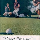 1959 UNITED STATES BREWERS FOUNDATION - BEER AND GOLF BELONG TOGETHER DOUBLE PAGE MAGAZINE AD (329)