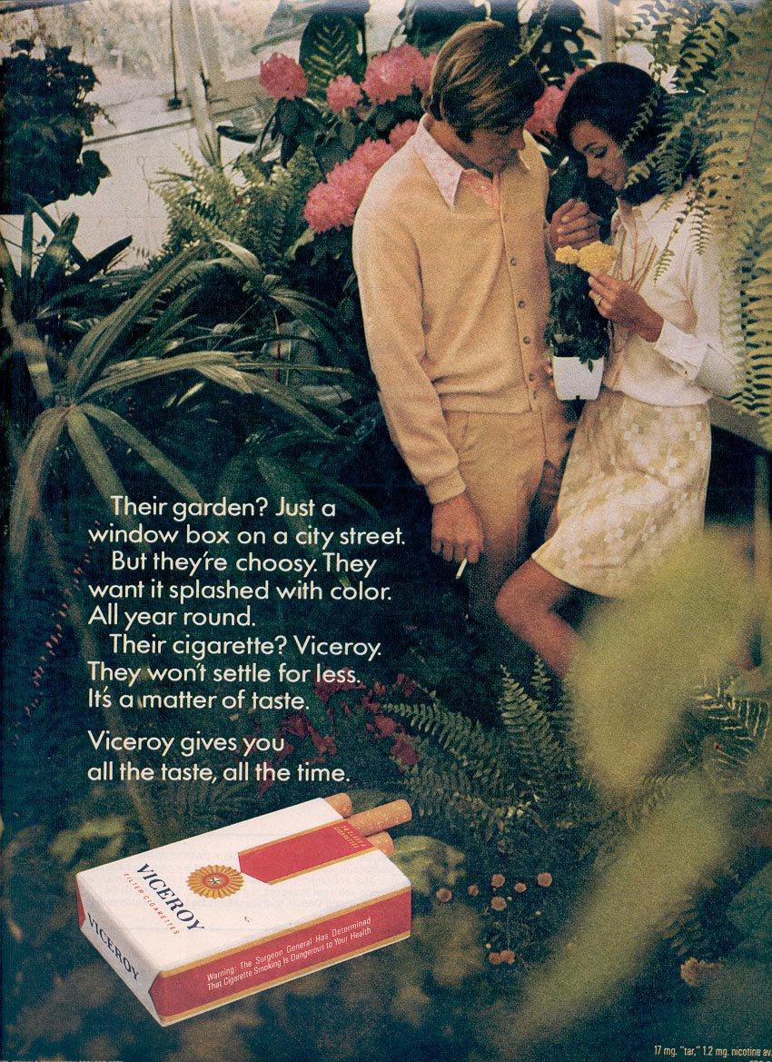 1971 VICEROY CIGARETTES MAGAZINE AD (330)