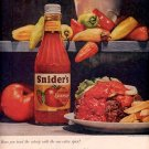 1959 SNIDER'S CHILI PEPPER CATSUP MAGAZINE AD (332)