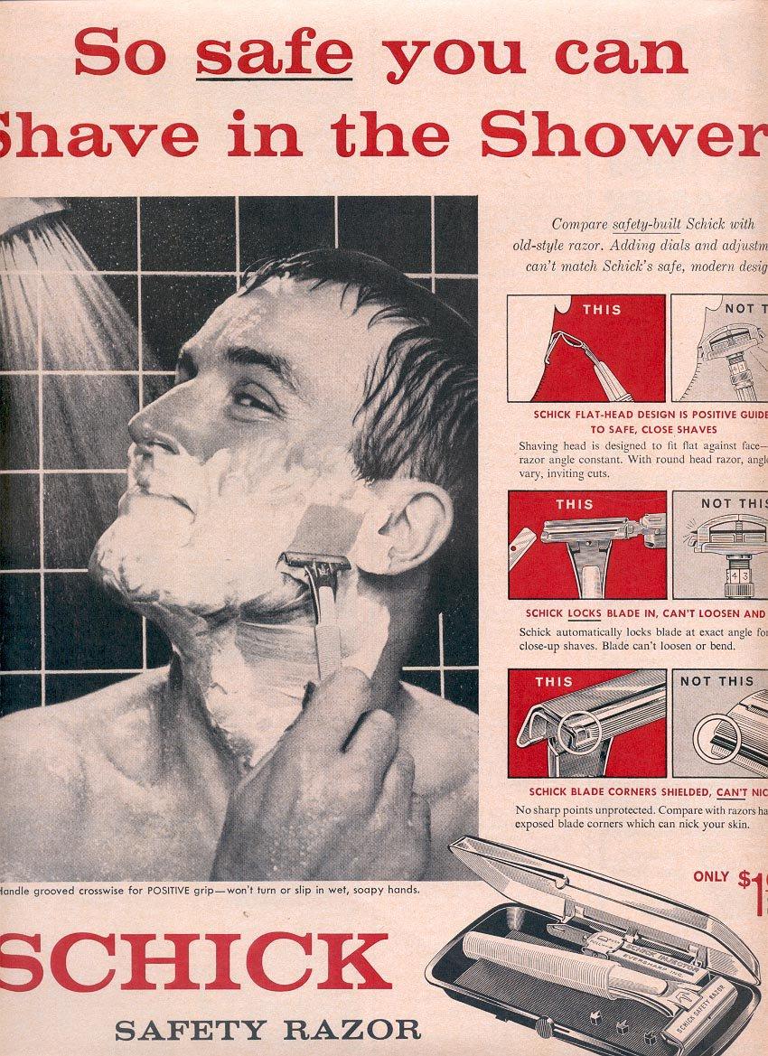 1959 SCHICK SAFETY RAZOR MAGAZINE AD (334)