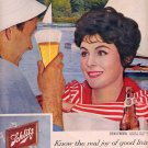 1959 SCHLITZ BEER AND ERIN O'BRIEN MAGAZINE AD (337)