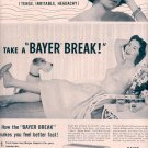 1959 BAYER ASPIRIN PAIN RELIEF MAGAZINE AD (339)