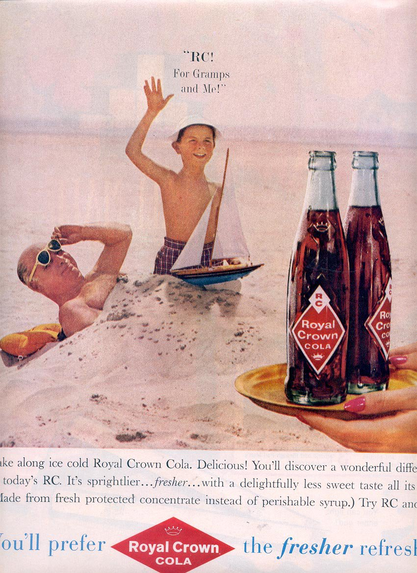 1959 RC ROYAL CROWN COLA MAGAZINE AD (340)