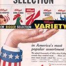 1959 KELLOGG'S NEW VARIETY CEREALS MAGAZINE AD (342)