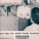1959 AMF PINSPOTTERS - GO BOWLING IT'S COOL - IT'S FUN DOUBLE PAGE MAGAZINE AD (348)