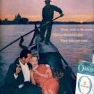 1959 OASIS CIGARETTES IN VENICE MAGAZINE AD (350)