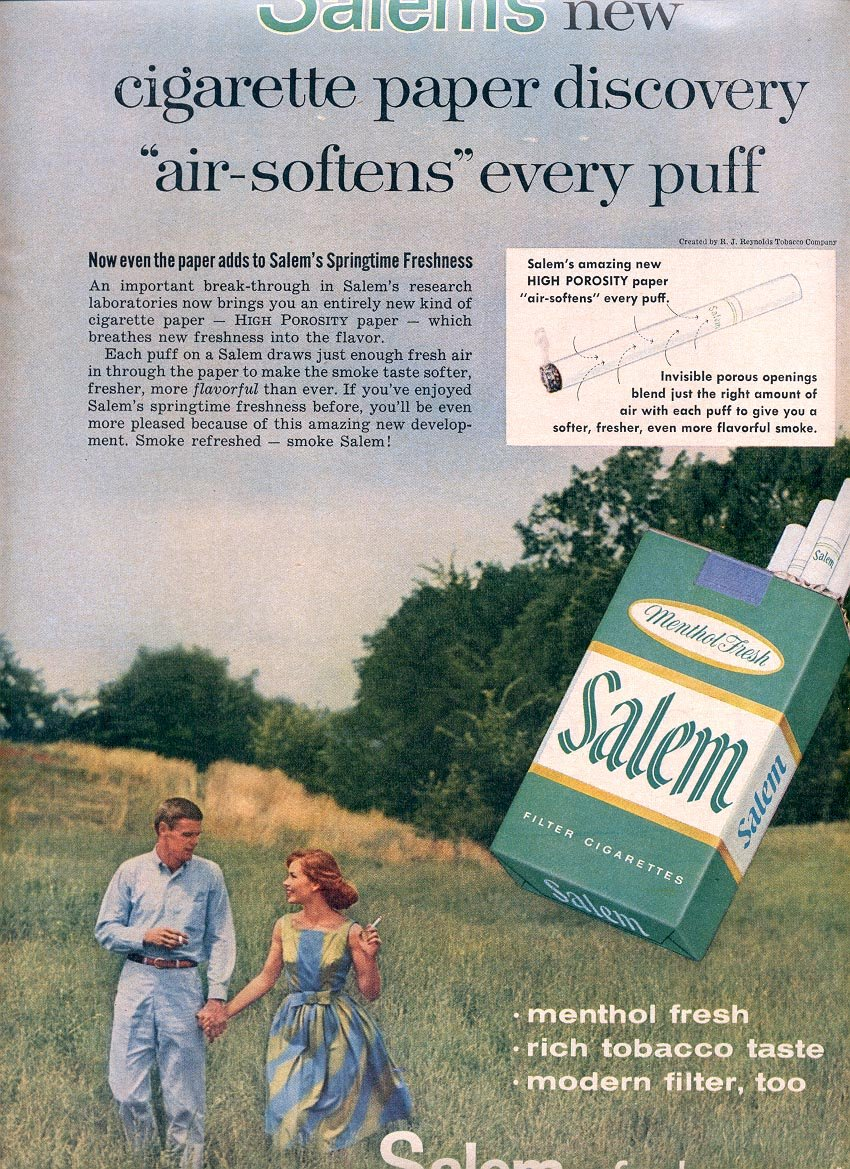 1959 SALEM CIGARETTES MAGAZINE AD (352)