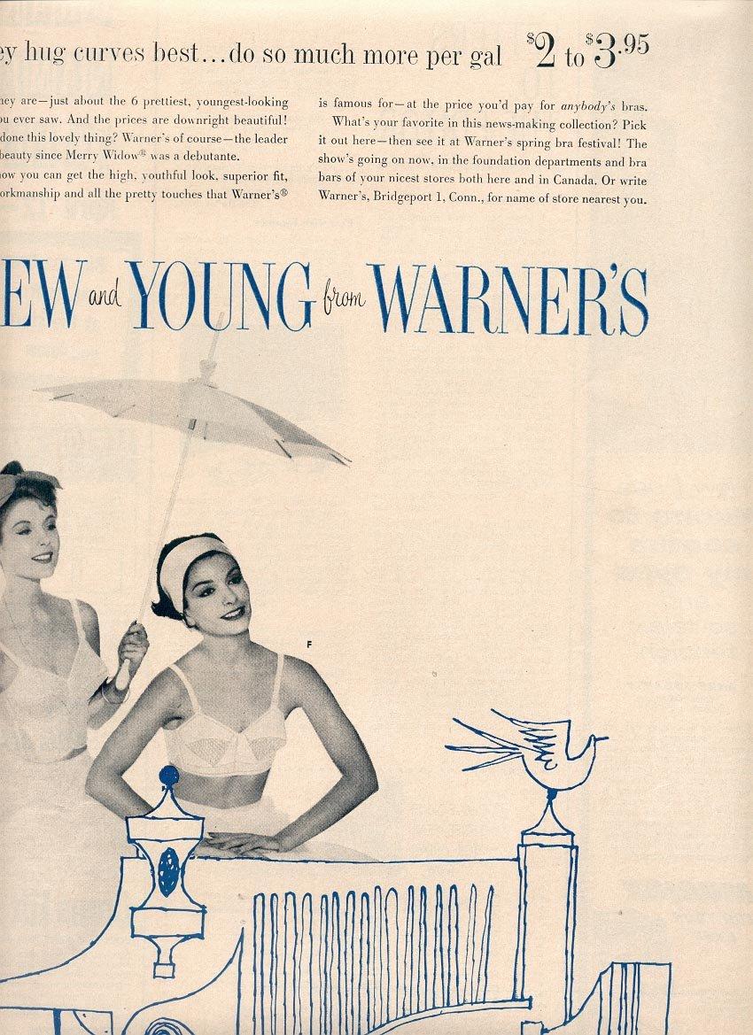 1959 WARNER'S BRAS MAGAZINE AD (361)