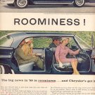 1959 CHRYSLER - ROOMINESS MAGAZINE AD (362)