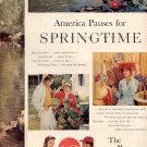 1959 COCA COLA COKE - AMERICA PAUSES FOR SPRINGTIME MAGAZINE AD (363)