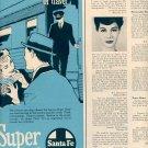 1959 SANTA FE RAILROADS SUPER CHIEF MAGAZINE AD (366)