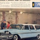 1959 PLYMOUTH STATION WAGON WITH TORSION AIRE RIDE MAGAZINE AD (374)