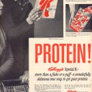 1959 KELLOGG'S SPECIAL K CEREAL - PROTEIN MAGAZINE AD (376)
