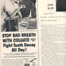 1959 COLGATE DENTAL CRAM WITH GARDOL MAGAZINE AD (377)