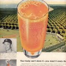 1959 FRESH FROZEN ORANGE JUICE FROM FLORIDA WITH MICKEY MANTLE OF N.Y. YANKEES MAGAZINE AD (381)