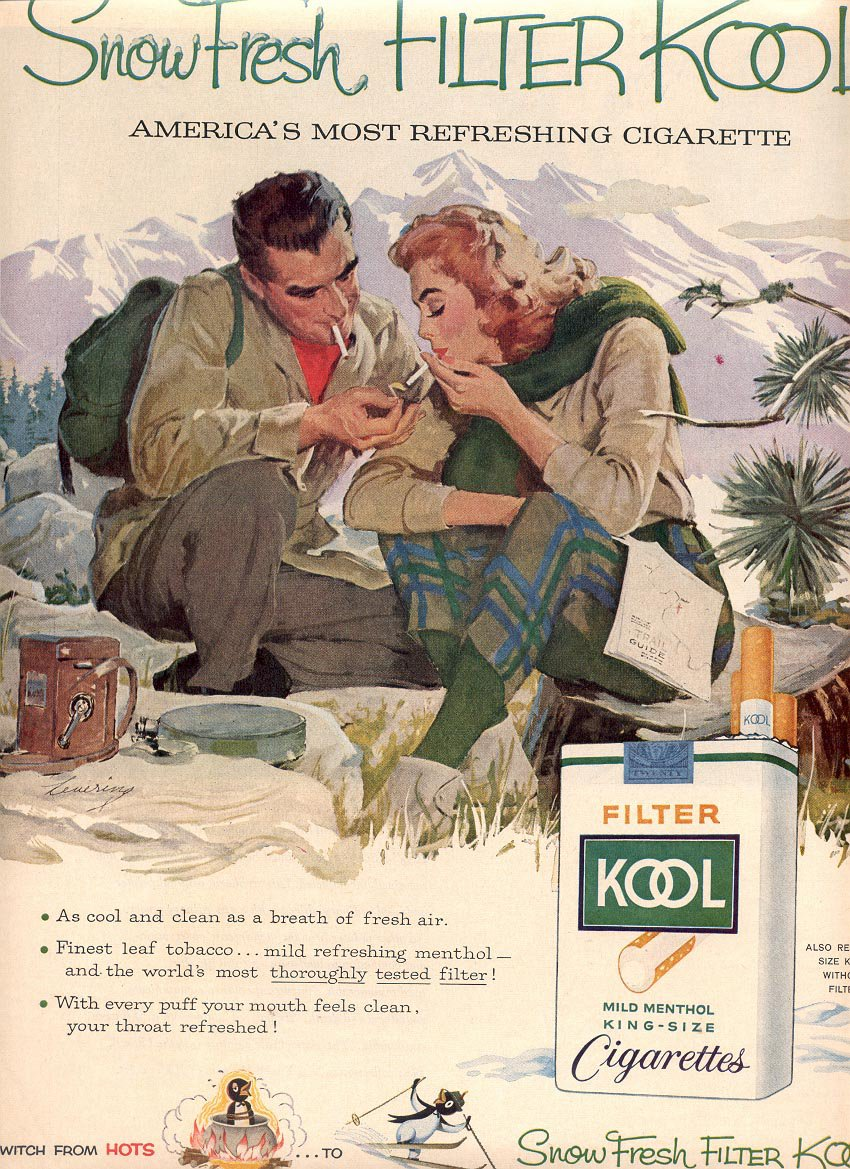 1959 KOOL FILTER CIGARETTES MAGAZINE AD (384)