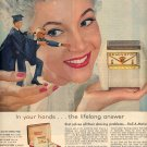 1959 REMINGTON ROLL A MATIC ELECTRIC SHAVER MAGAZINE AD (397)