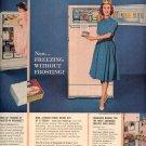 1959 FRIGIDAIRE FROST PROOF REFRIGERATOR FREEZER BY GENERAL MOTORS MAGAZINE AD (398)