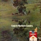 1970 COME TO MARLBORO COUNTRY CIGARETTES MAGAZINE AD (401)