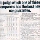 1972 AMC - AMERICAN MOTORS COMPANY COMPARES CAR GUARANTEES MAGAZINE AD (403)