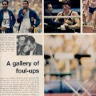 1972 THE YEAR IN OLYMPICS - A GALLERY OF FOUL-UPS DOUBLE PAGE MAGAZINE AD (408)
