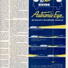 1952 AUTRONIC EYE AUTOMATIC HEADLIGHT CONTROL MAGAZINE AD (409)