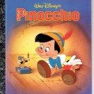 WALT DISNEY'S  PINOCCHIO A LITTLE GOLDEN BOOK 1996 CHILDREN'S HARDBACK BOOK #2 NEAR MINT