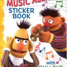 SESAME STREET MUSIC ALL DAY STICKER BOOK WITH PULLOUT POSTER 2004 CHILDREN'S BOOK MINT